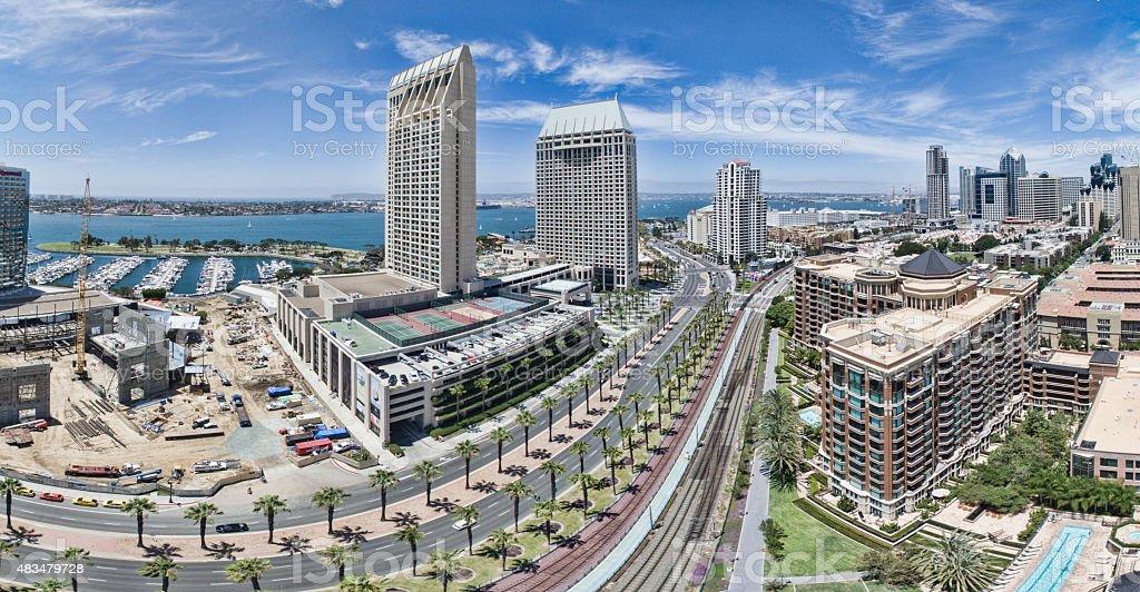 San Diego Panoramic stock photo
