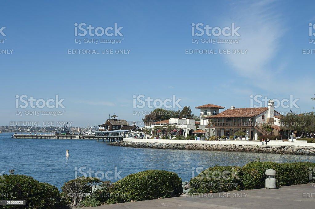 San Diego Seaport Village stock photo