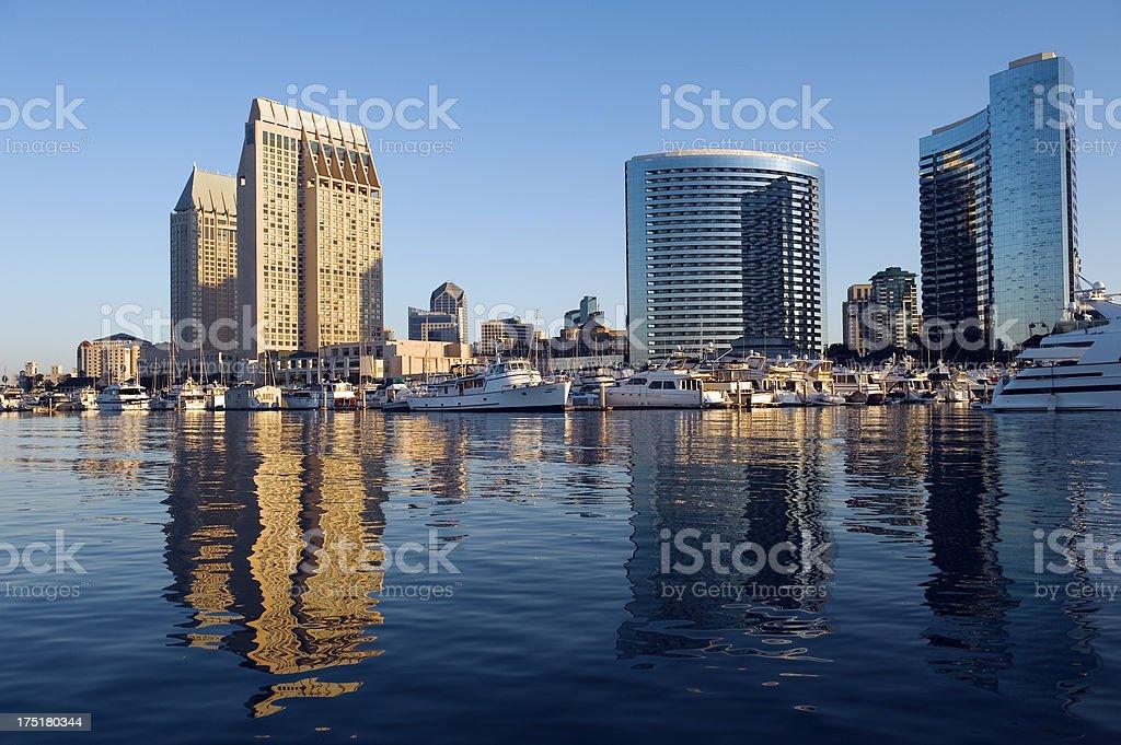 San Diego skyline and Marina royalty-free stock photo