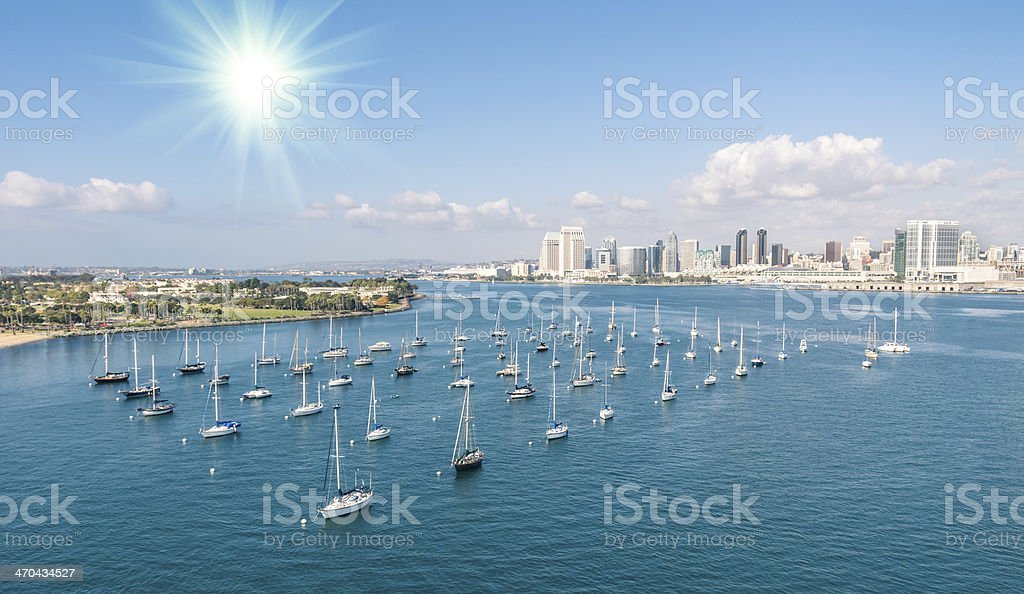 San Diego skyline and Waterfront stock photo
