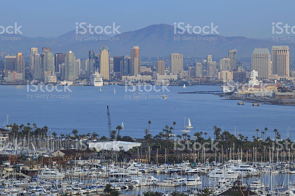San Diego Skyline at Dusk royalty-free stock photo