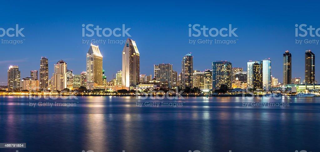 San Diego Skyline at Dusk stock photo