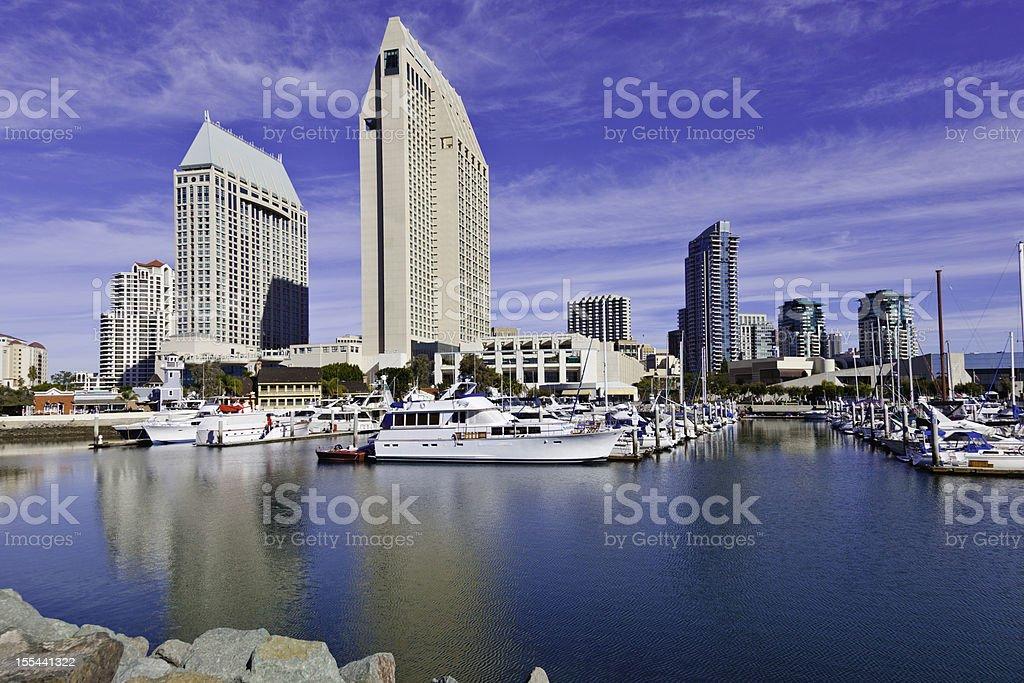 San Diego Skyline, California stock photo