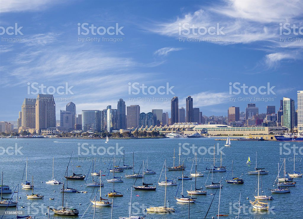 San Diego Skyline, California (P) stock photo