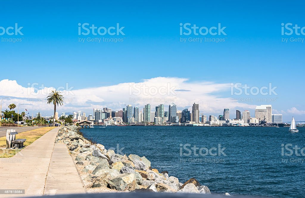 San Diego Skyline, California stock photo