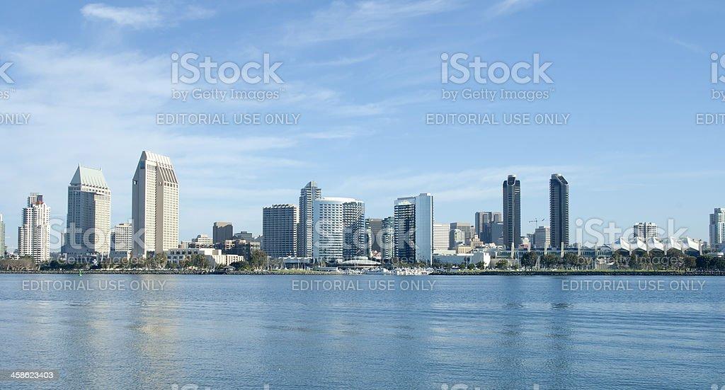 San Diego Skyline Downtown stock photo