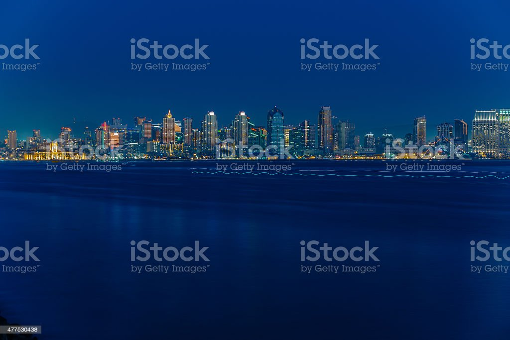 San Diego Skyline in Early Evening stock photo