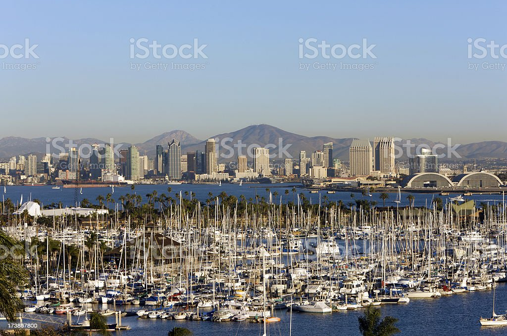 San Diego skyline in perfect clear day stock photo