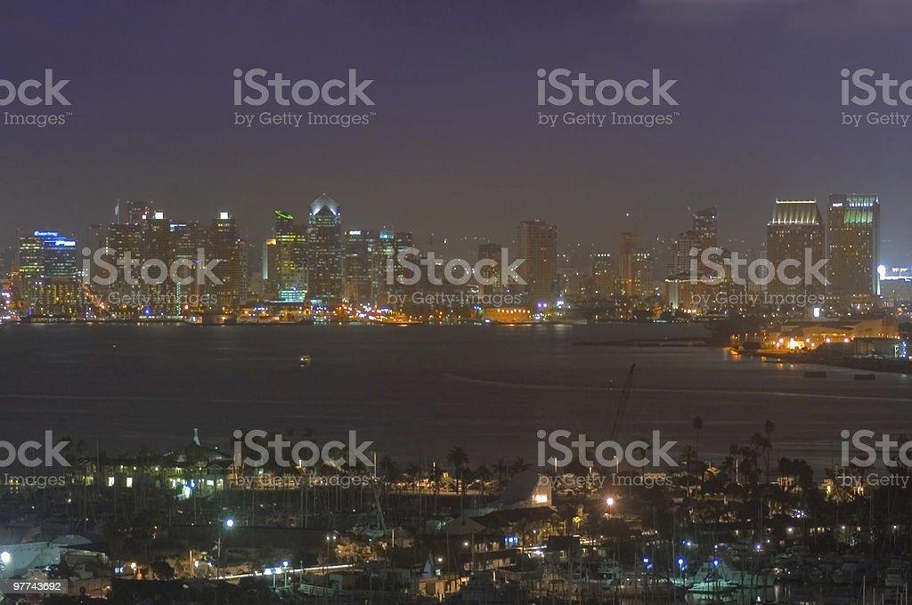 San Diego Skyline - Night stock photo