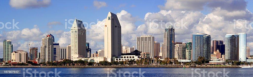 San Diego Skyline Panorama royalty-free stock photo