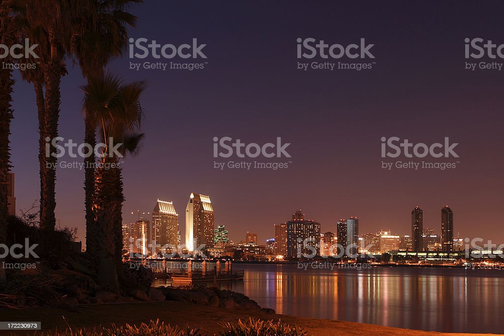 San Diego Skyline royalty-free stock photo