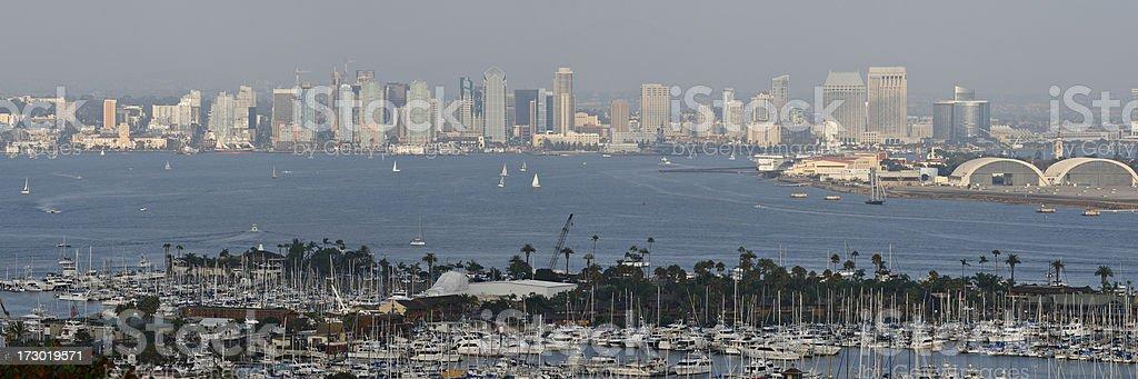 San Diego Skyline royalty-free stock photo