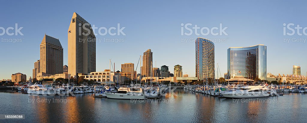 San Diego Skyscrapers and Marina royalty-free stock photo