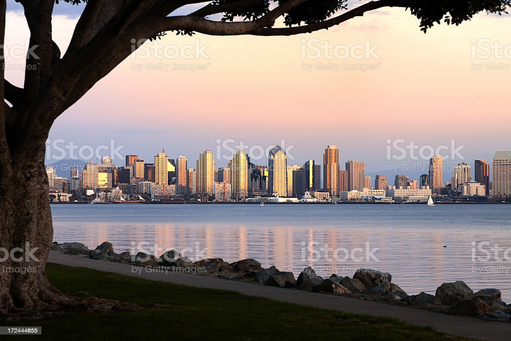 San Diego Waterfront Skyline royalty-free stock photo