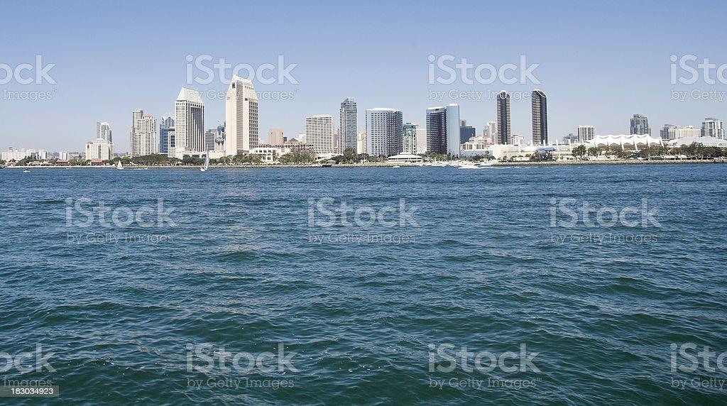 San Diego Waterfront Skyline stock photo