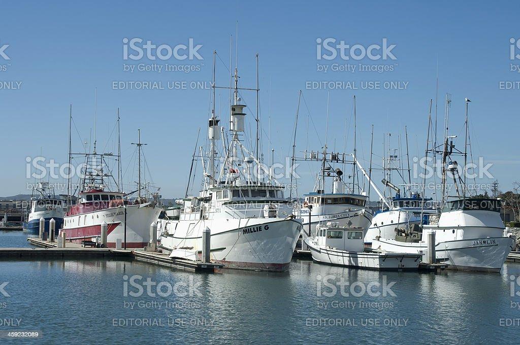 San Diego's Fishing Boats harbor stock photo