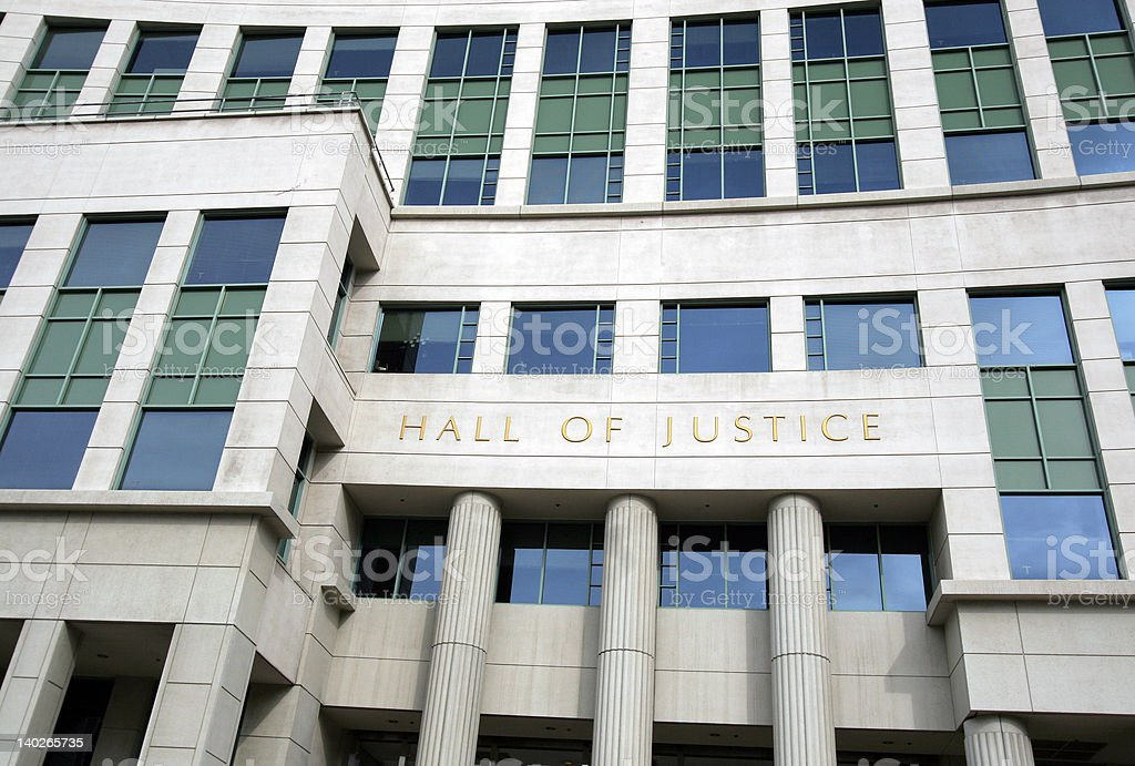 San Diego's Hall Of Justice royalty-free stock photo
