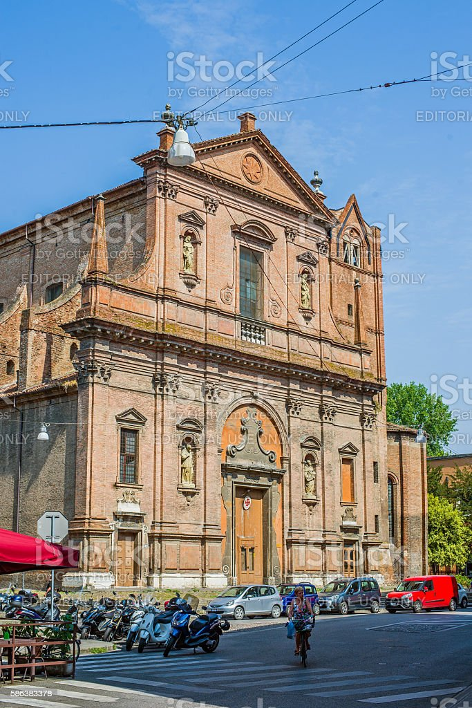 San Domenico church of Ferrara. Emilia-Romagna. Italy. stock photo