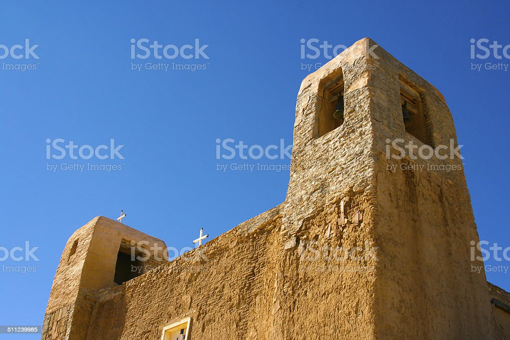 San Esteban Del Rey Mission in Acoma Pueblo, New Mexico stock photo