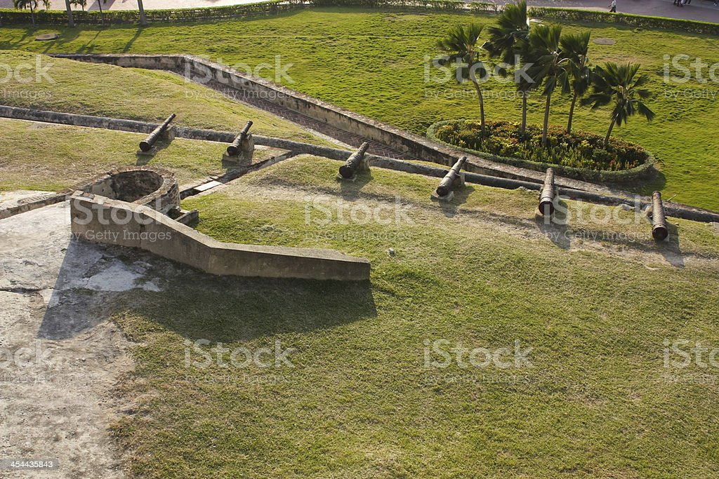 San Felipe Barajas castle. Cartagena de Indias, Colombia stock photo