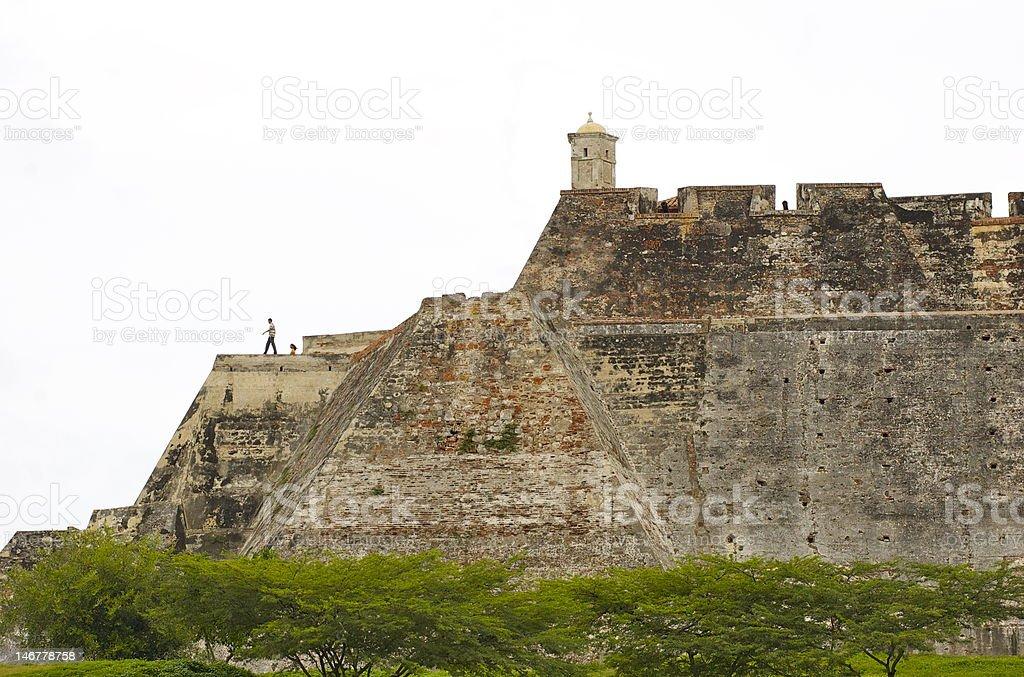 San Felipe Castle in Cartagena, Colombia stock photo