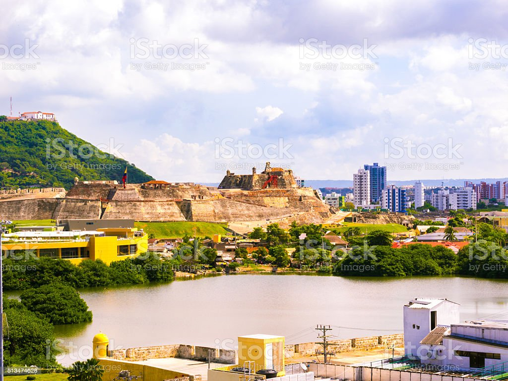 San Felipe de Barajas Castle in Cartagena, Colombia stock photo