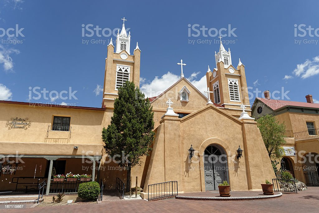 San Felipe de Neri Catholic Church, Albuquerque stock photo