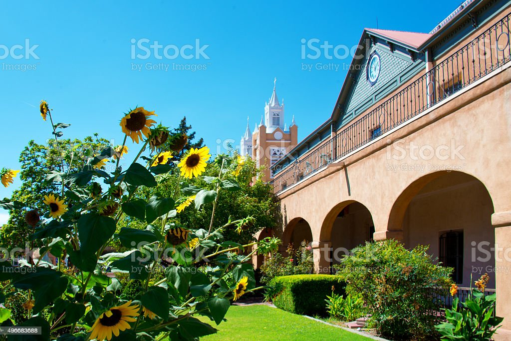 San Felipe de Neri Church in Albuquerque stock photo