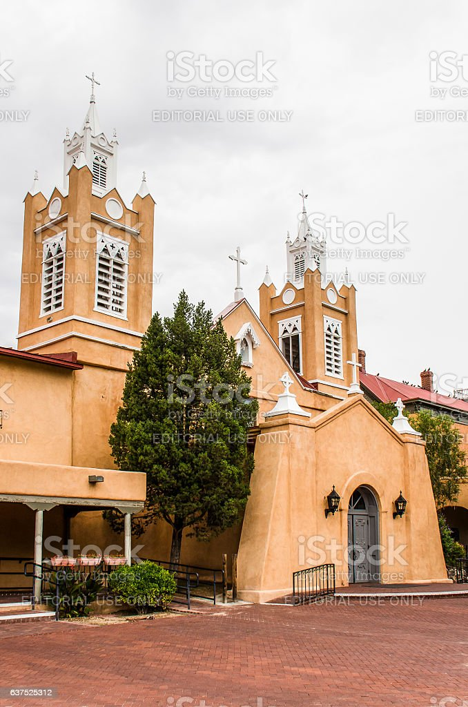 San Felipe de Neri Parish Church in the old town stock photo