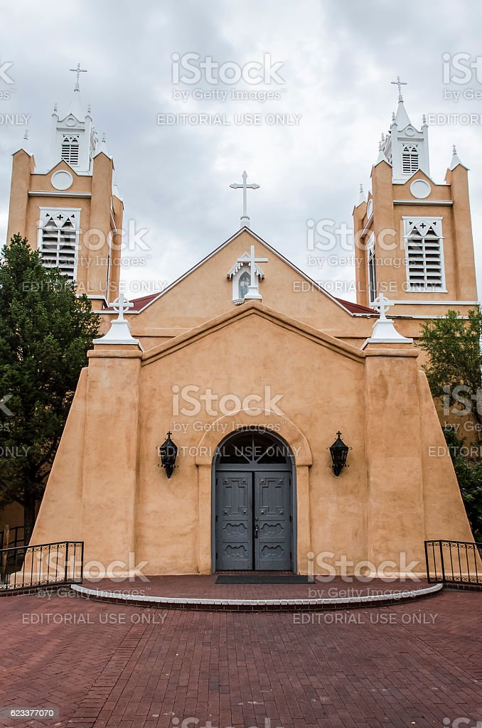 San Felipe de Neri Parish Church stock photo