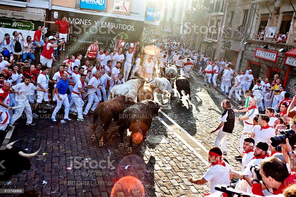 San Fermin festival. Pamplona. Spain stock photo