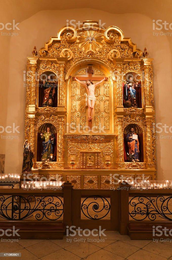 San Fernando Cathedral's Retablo stock photo