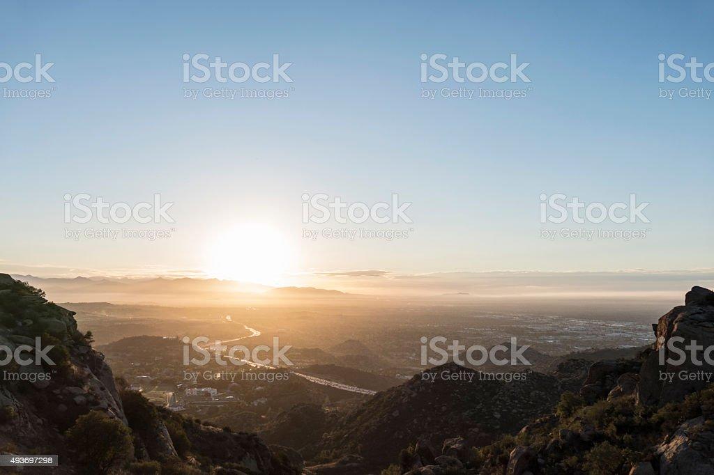 San Fernando Valley Los Angeles Sunnrise stock photo