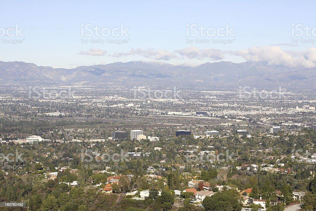 San Fernando Valley Panorama royalty-free stock photo