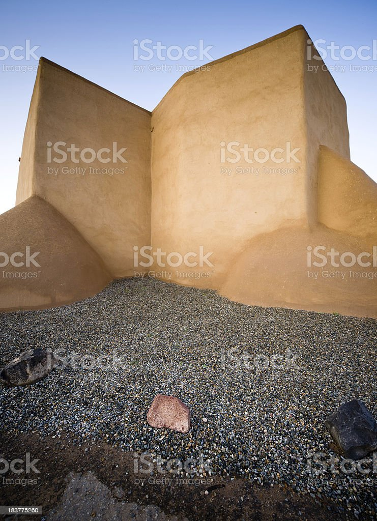 San Fracisco de Asis Mission Abstract Shapes stock photo