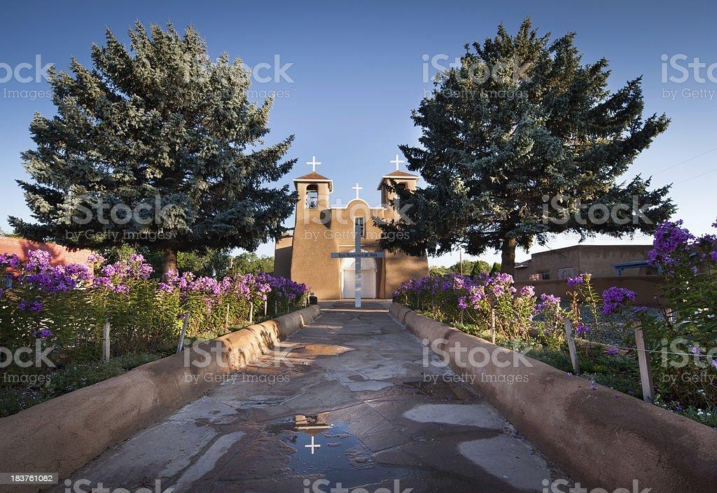 San Fracisco de Asis Mission Garden Pathway stock photo