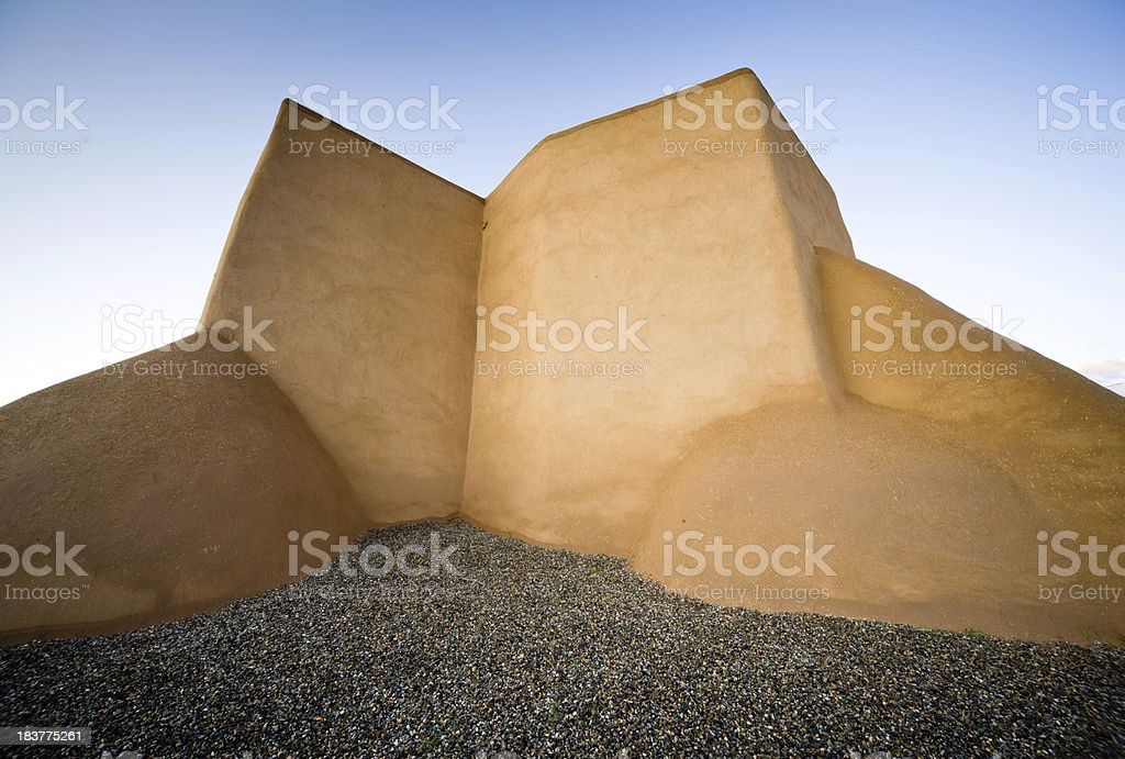 San Fracisco de Asis Mission Pre-dawn Abstract Shapes stock photo