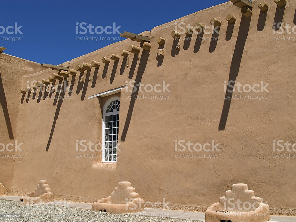 San Francis de Asis Mission Church in Taos, New Mexico stock photo