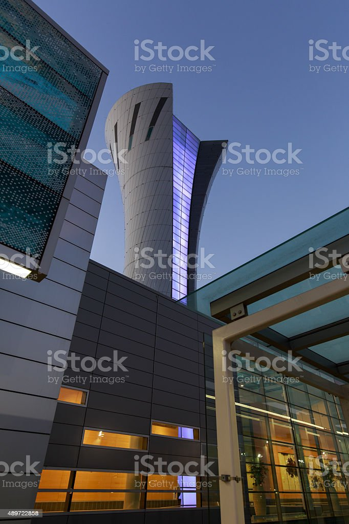 San Francisco Airport Control Tower, SFO stock photo