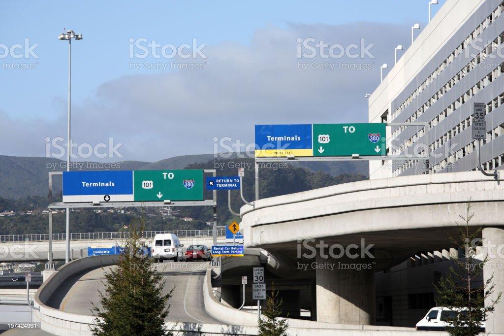SFO San Francisco Airport royalty-free stock photo