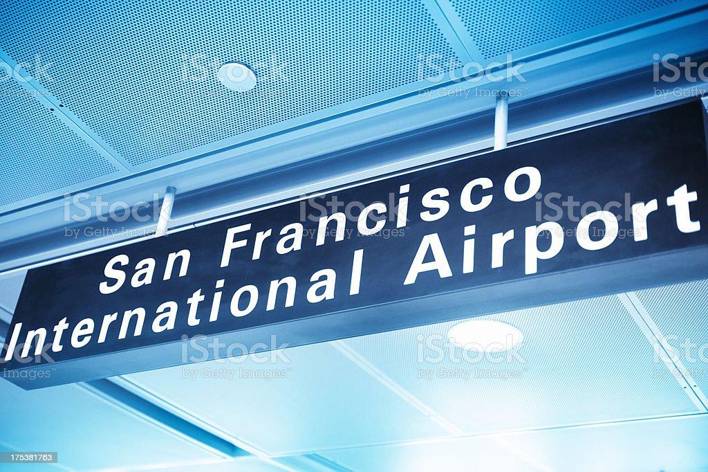 San Francisco Airport sign stock photo