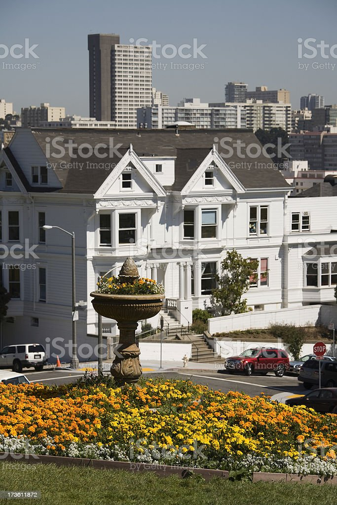 San Francisco Alamo Park stock photo