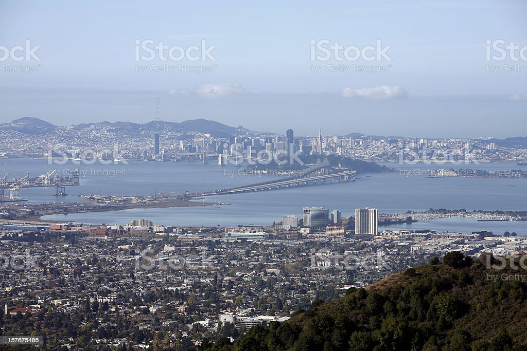 San Francisco And East Bay From The Berkeley Hills stock photo