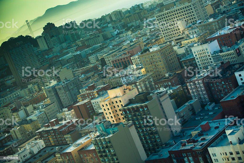 San Francisco at an Angle stock photo