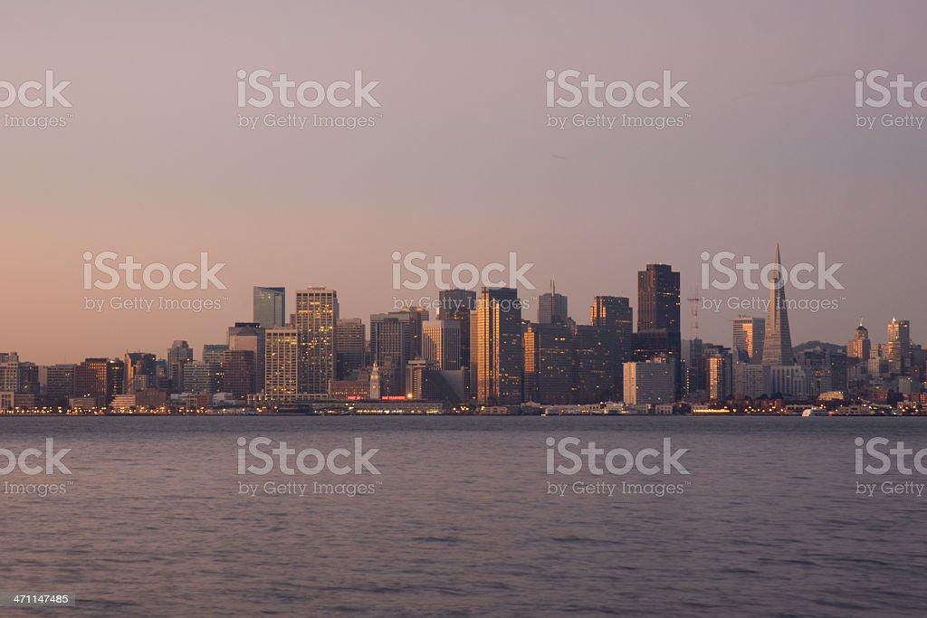 San Francisco at Dawn royalty-free stock photo