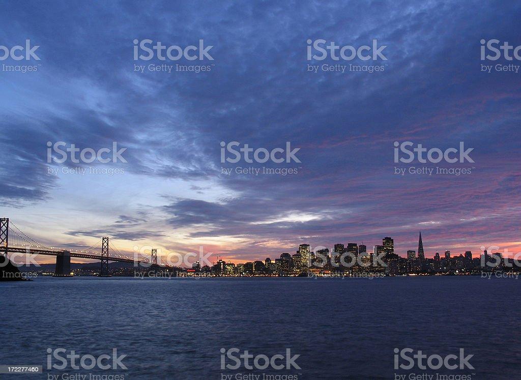 San Francisco at Sunset royalty-free stock photo