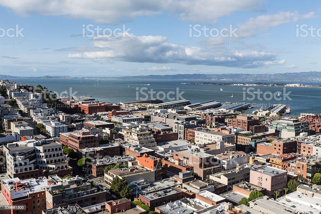 San Francisco Bay and City stock photo