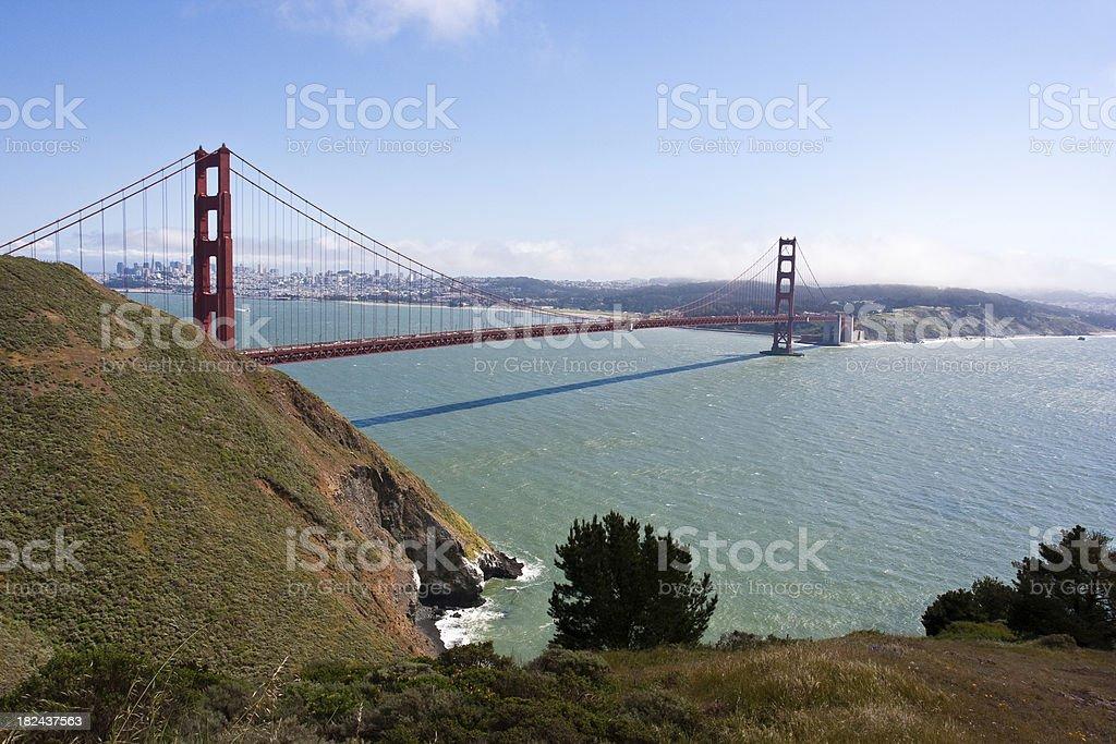 San Francisco Bay and Golden Gate Bridge stock photo