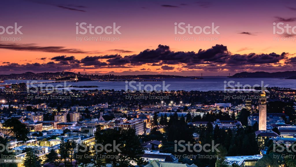 San Francisco Bay Area as seen from Berkeley hills stock photo