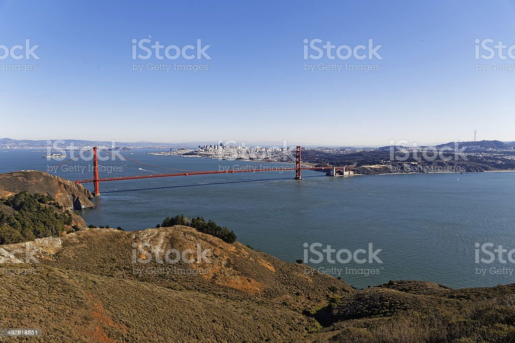 San Francisco Bay Area view royalty-free stock photo